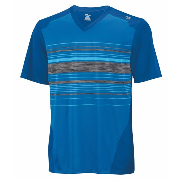 Wilson Specialist Stripe V-Neck Kids Boys Tennis T-Shirt